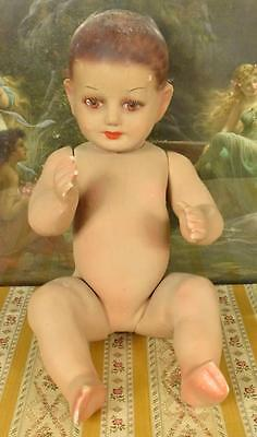 Fantastic Rare Antique French Plaster Baby Shop Mannequin / Display Dummy C1890