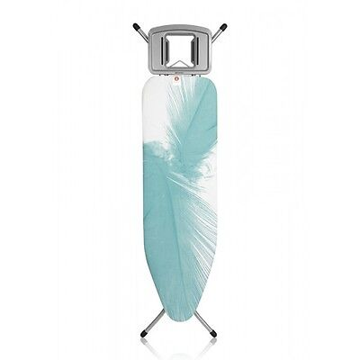 BRABANTIA Ironing Board B, 124x38 cm, Solid Steam Iron Rest  (Feathers) 09587