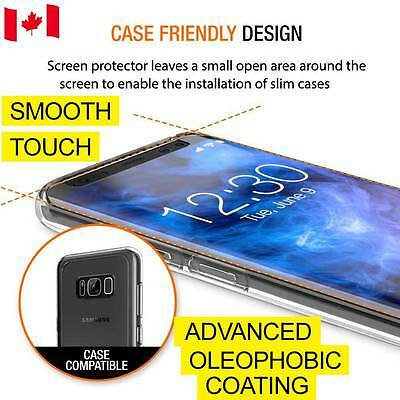 Case Friendly Samsung Galaxy S8 Plus Full Cover Tempered Glass Screen Protector
