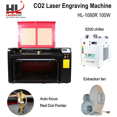 100W Laser Cutter Engraving Machine & CW5000 Chiller & 400MM Lift & Linear Guide