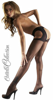 Collants Noir Ouverts Sex Collant Open Tights
