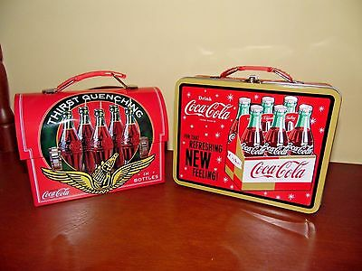 Coca-Cola Lunchboxes- New Without Box- Two-  1 Of 4 Ads