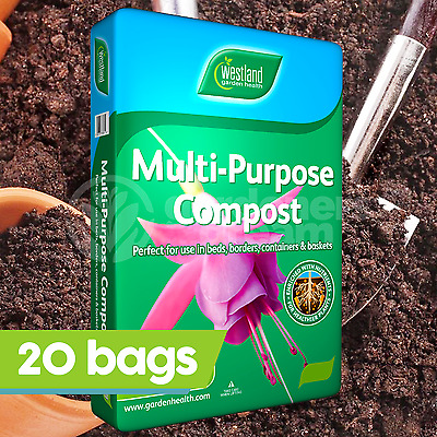 20 x Westland 100L Multi Purpose Compost Garden Plant Hanging Basket Soil