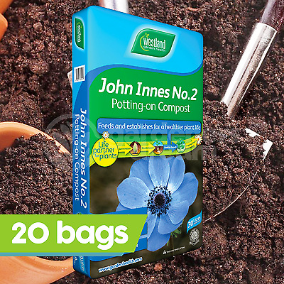 20 x Westland John Innes No2 30L Potting Compost Young Plant Garden Root Build