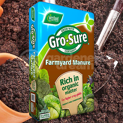 Westland 50L Farm Yard Horse Manure Multi Purpose Soil Conditioner Fertiliser