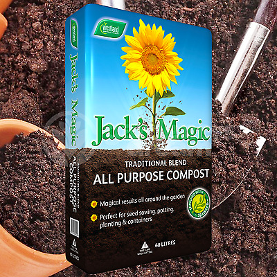 Westland 60L Jack's Magic Multi Purpose Compost Peat Free Garden Plant Soil
