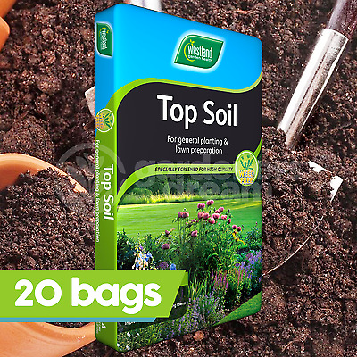 20 x Westland 35L Top Soil Multi Purpose For Grass Seed Planting Vegetables