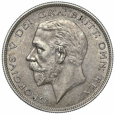 1928 Halfcrown - George V British Silver Coin - V Nice