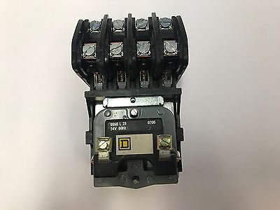 8903LO40V01 4 POLE / 24V COIL OPEN Elec Held Lght Contact SQ D  New in the box