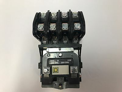 8903LO40V03 4 POLE / 240V COIL OPEN Elec Held Lght Contact SQ D  New in the box
