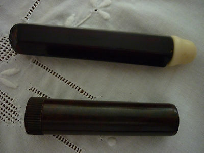 2 X Antique Early 20th Century Bakelite Cylindrical Shaped Needle Cases