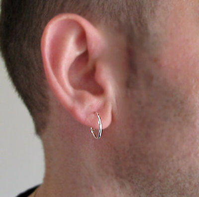 Clic Earrings For Men Uni Sterling Silver Mens Hoops S Man