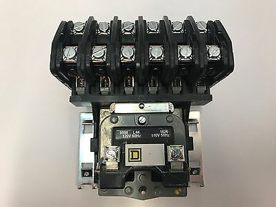 8903LO60V02 6 POLE / 120V COIL OPEN Elec Held Lght Contact SQ D  New in the box