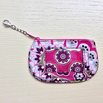 Vera Bradley Clip Zip ID Holder Coin Purse Very Berry Paisley