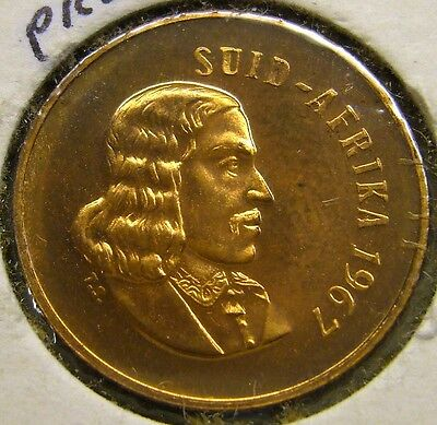 1967 South Africa 1 Cent Coin Unc     2 available