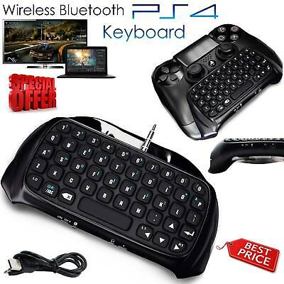 PlayStation for PS4 Wireless Bluetooth Chatpad Keyboard Controller GamePad Black