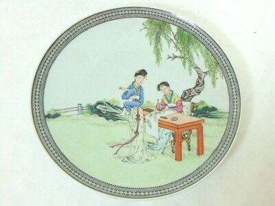 Antique Hand Painted Chinese Porcelain Charger Plate