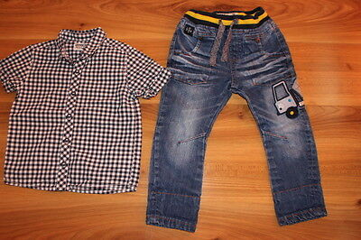NEXT boys checked shirt jeans outfit bundle 18-24 months *I'll combine postage