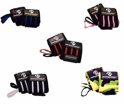 Gripad Wrist Wraps for Weight Lifting & Gym Hand Support Straps All colors