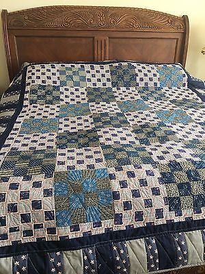 Reminiscent of a Civil War Handmade Pieced Quilt