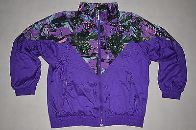 Trainings- Jacke Vintage Bad Taste Style Nylon Glanz Shiny  Vintage Karneval 38