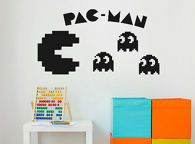 Pacman Vintage Game Vinyl Wall Sticker Home Mural Decor Room Decal Art Gift