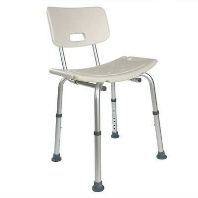 Bath Shower Seat Stool Bench Adjustable Height Lightweight Aluminium De