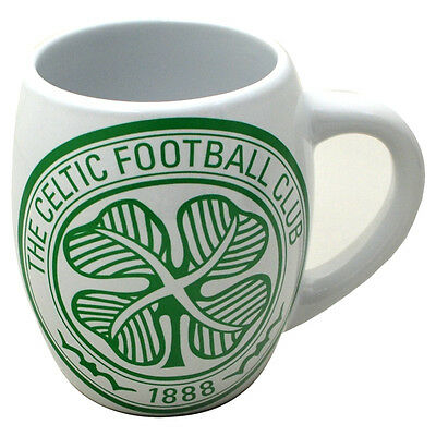Celtic Fc Tea Tub Mug Ceramic Coffee Cup In Clear Gift Box New Xmas