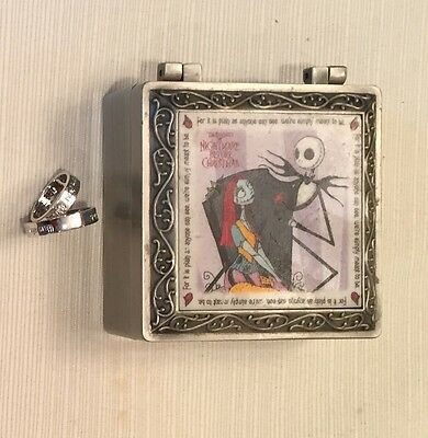 """1993 Nightmare Before Christmas """"Simply Meant To Be"""" Sterling Silver Ring Set"""