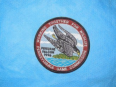 "PGC 1996 4"" WTFW ""Peregrine Falcon Hawk"" Ned Smith"" Patch (NEW)"