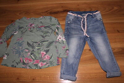 NEXT girls jeans top bundle 12-18 months *I'll combine postage