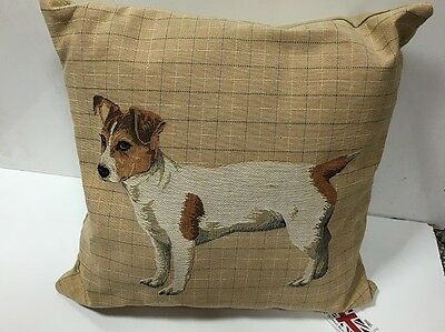 Jack Russell Terrier Tapestry Cushion By Evans Lichfield