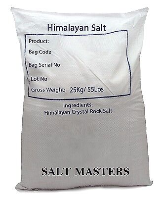 SALT MASTERS 25kg Himalayan Pink Salt Food Grade – Fine Salt The Purest