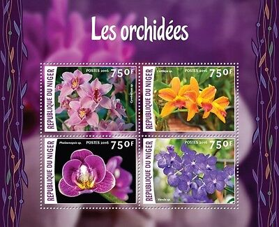 Z08 IMPERFORATED NIG16218a NIGER 2016 Orchids MNH