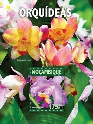 Z08 IMPERFORATED MOZ16105b MOZAMBIQUE 2016 Orchids MNH
