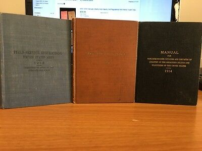 Lot of WWI Books/Manuals - Small Arms Firing, Feild Service etc - Vintage WWI