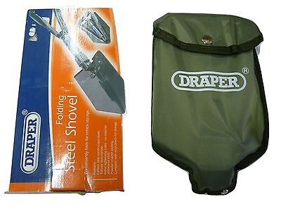 Draper Folding Steel Shovel with storage pouch great for storing
