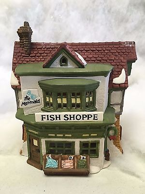 Dept 56 Dickens Village Series The Heritage Village The Mermaid Fish Shoppe 1988