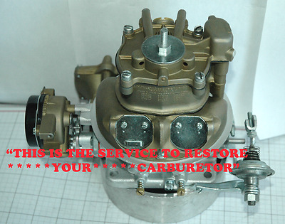Your 1955 57 T Bird Ford Holley 4000 Series Haystack Carburetor Restored Perfect