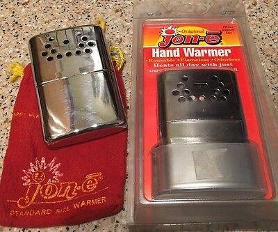 Original Jon-e Hand Warmer Pair-1 New/1 Used With Pouch