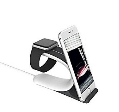 Apple Watch Dock Charging Holder Soft Silicon Anti-Slip Steady Station Grey New