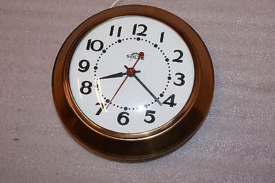 Vintage Solar Canada Copper Kitchen Wall Electric Clock WORKING