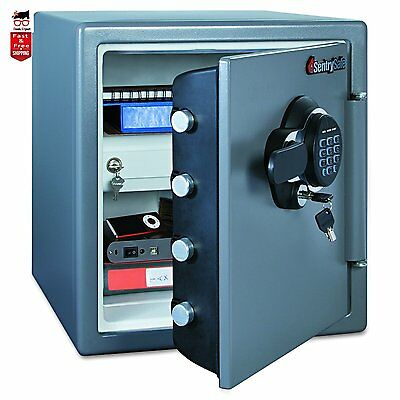 Large Digital SAFE SECURITY BOX electronic solid steel cash FIRE and WATER ROOF