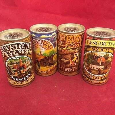 4 - American Brewers Historical Collection Empty Beer Cans - 3,4,5,7