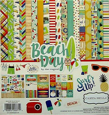 Carta Bella  [BEACH DAY]  Textured  Paper & Sticker Kit -  Save 30%