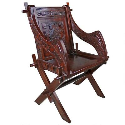 """Antiqe Victorian Parlor Chair Hand Carved Replica Solid Mahogany 40"""" Side Chair"""