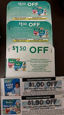 Pampers easy ups and splashers coupons