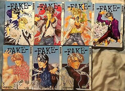 Complete FAKE Manga Yaoi BL Volumes 1 - 7 Pre-owned