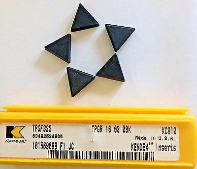 1 new KENNAMETAL TPGF 322 KD100 Diamond Tip Carbide Insert TPGR160308K USA
