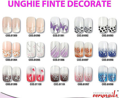 Unghie Finte Decorate In Vari Modelli Tips Verynails Professionale Nail Art